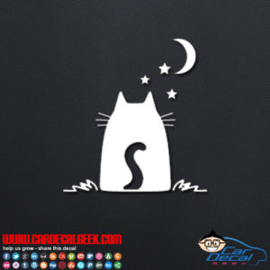 Star Night Cat Decal