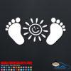 Sunshine Feet Decal