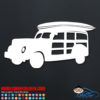 Surfing Woody Wagon Decal