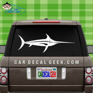 Swordfish Car Decal Sticker