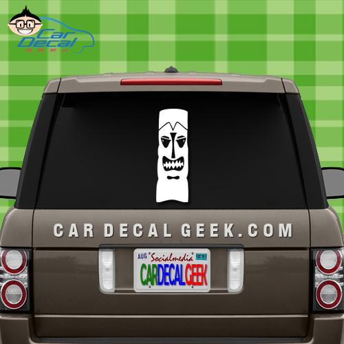 Tiki Idol Window Decal Sticker