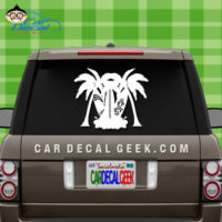 Tiki Surfboards Car Window Sticker