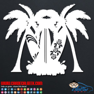 Tiki Surfboards Car Decal