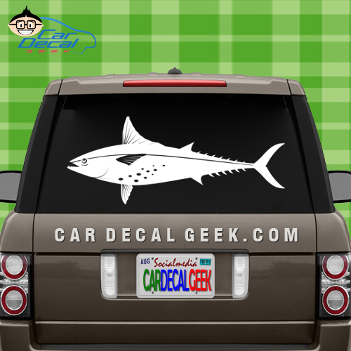 tuna fish car truck decal sticker fishing decals