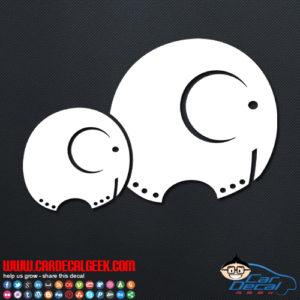 Two Cute Elephants Car Window Decal Vinyl Sticker Graphic