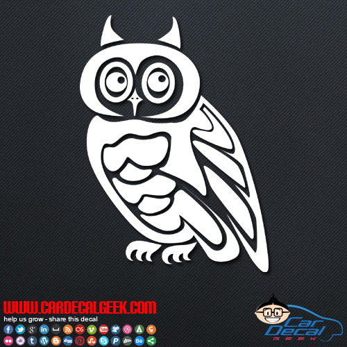 Wise owl decal wise owl car truck decal sticker