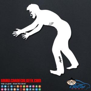 Zombie Guy Car Sticker
