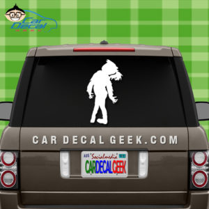 Zombie Girl Car Sticker