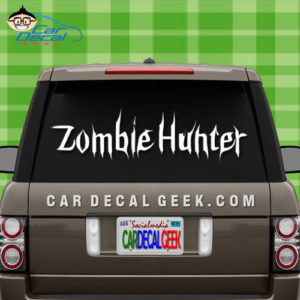Zombie Hunter Car Decal