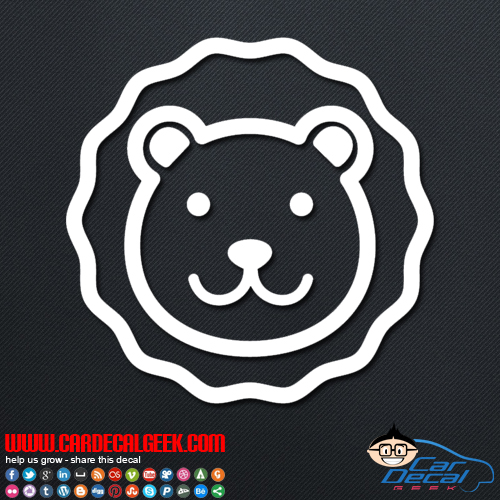 Fun Lion Decal