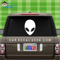 Alien Face Car Window Sticker Decal