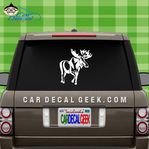 Moose Car Window Decal Sticker