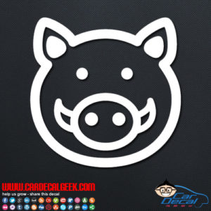 Cute Boar Pig Decal