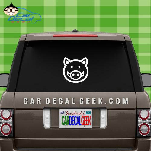 Cute Boar Pig Window Decal