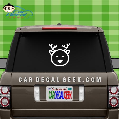 Cute Deer Face Car Window Sticker Decal