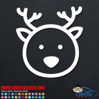 Cute Deer Face Decal