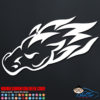 Flaming Horse Head Decal Sticker