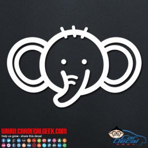 Cute Elephant Decal