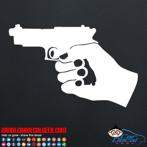 Hand Gun Decal