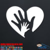 Love Heart Hands Decal
