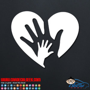 Love Heart Hands Decal