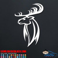 Hunting Deer Head Decal
