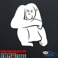 Orangutan Decal Sticker