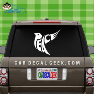Peace Dove Car Window Sticker Decal