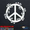 Peace Sign Flowers Decal