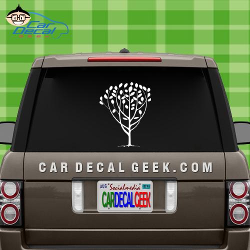Peace Tree Car Window Decal Sticker
