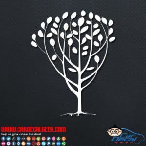 Peace Tree Decal