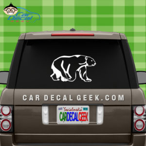 Polar Bear Car Window Decal Sticker