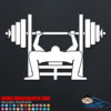 Bench Press Decal Sticker