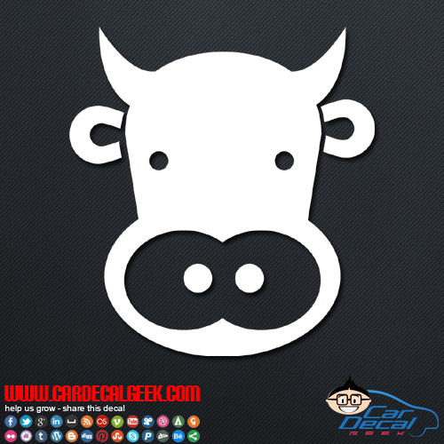 Cow Face Decal Sticker