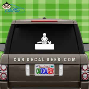 Alien Autopsy Car Window Decal Sticker