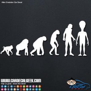 Alien Evolution Decal Sticker