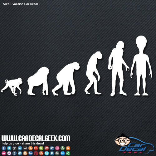 Alien Evolution Car Window Vinyl Decal Sticker Sci Fi Decals