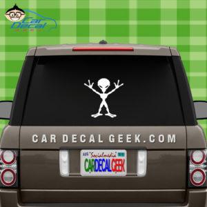 Alien Car Window Decal Sticker