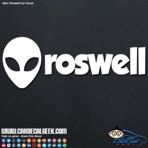 Roswell Alien Decal Sticker