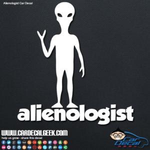 Alienologist Alien Decal