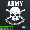 Army Death Before Dishonor Decal Sticker
