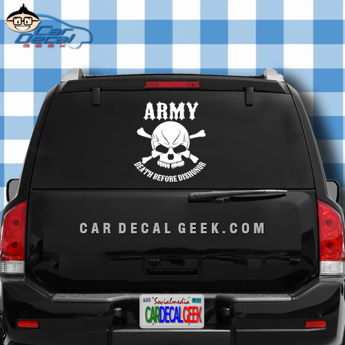 Army Strong Skull Window Car Decal Sticker