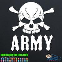 Army Skull Vinyl Decal Sticker