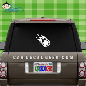 Asteroid Meteor Car Window Decal Sticker