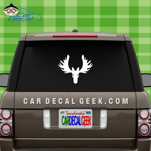 Hunting Moose Head Car Window Decal Sticker