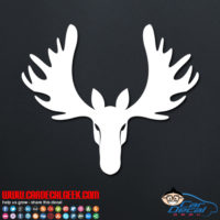 Hunting Moose Head Decal Sticker