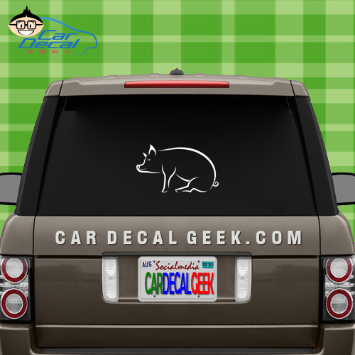 Awesome Pig Car Window Decal Sticker