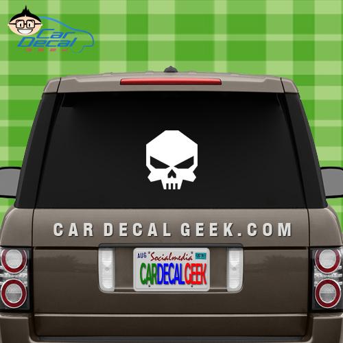 Bad Ass Skull Car Window Decal Sticker