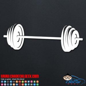 Barbell Weight Decal Sticker