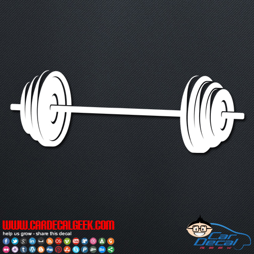Barbell Weight Decal Sticker